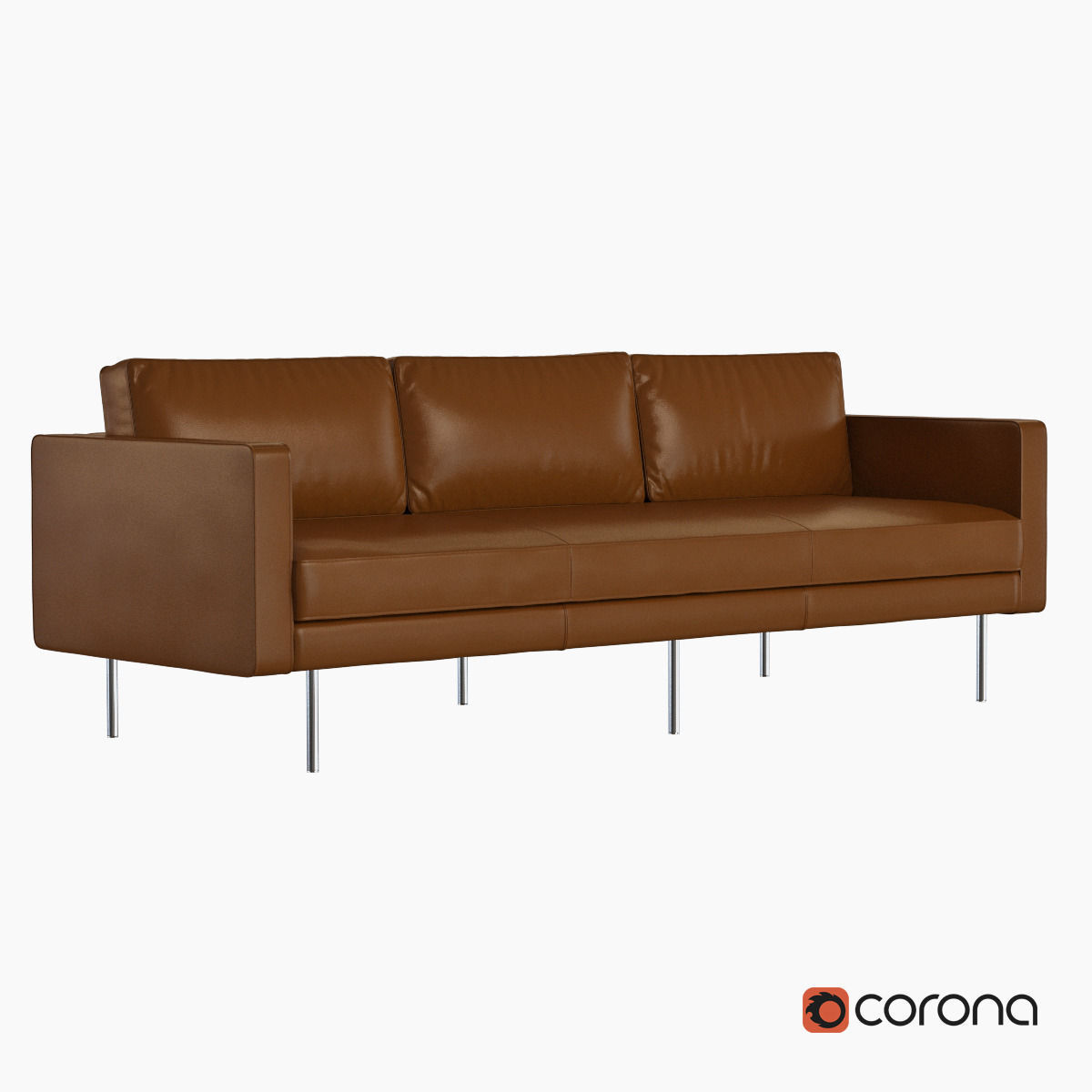 west elm leather sofa reviews red sectional bed axel 3d model max obj fbx cgtrader