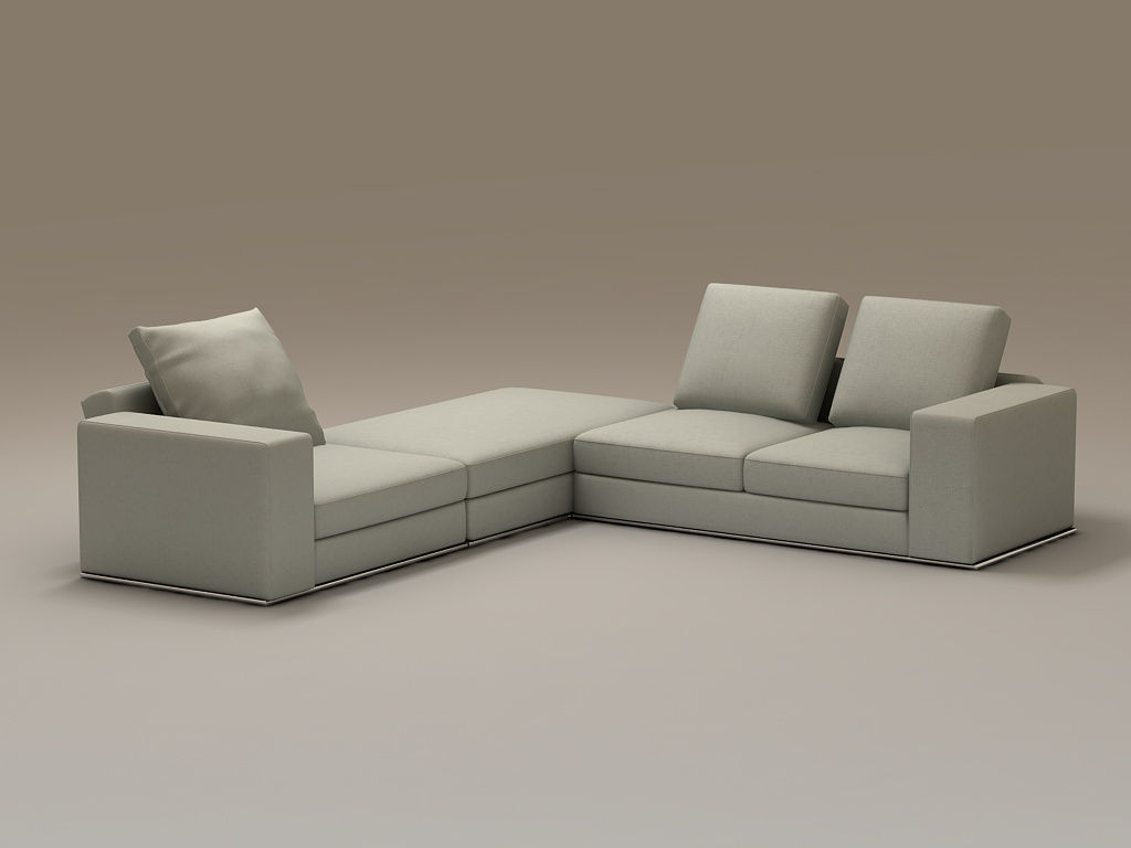 minimal sofa design tan sectional beautifully stylish family furniture desig 3d model