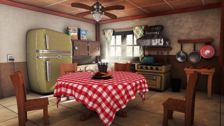3D Cartoon kitchen environment CGTrader