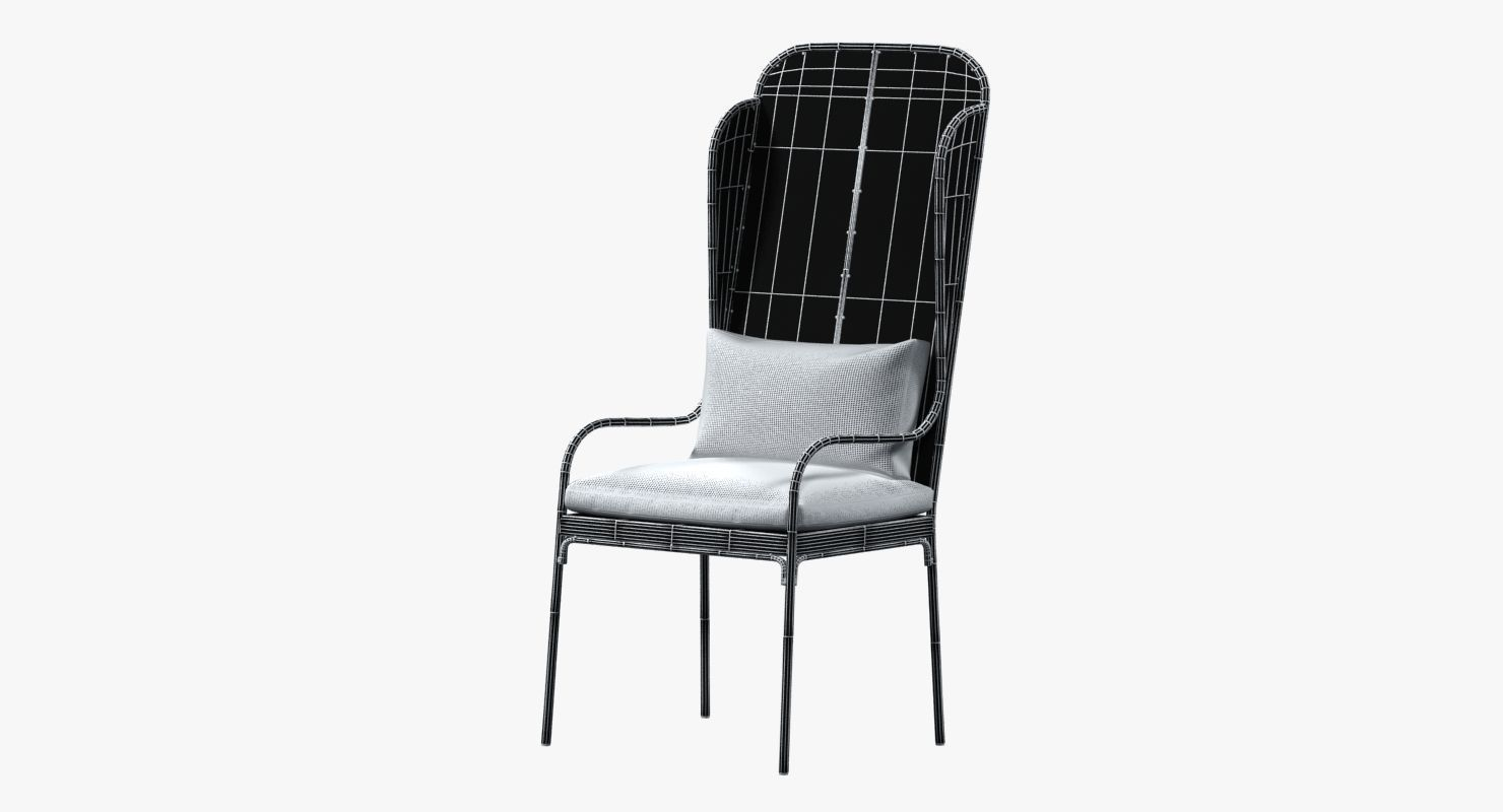 Restoration Hardware Chair Restoration Hardware Iron Wingback Chair 3d Model Max