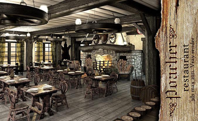 3D model Poacher banquet restaurant  CGTrader