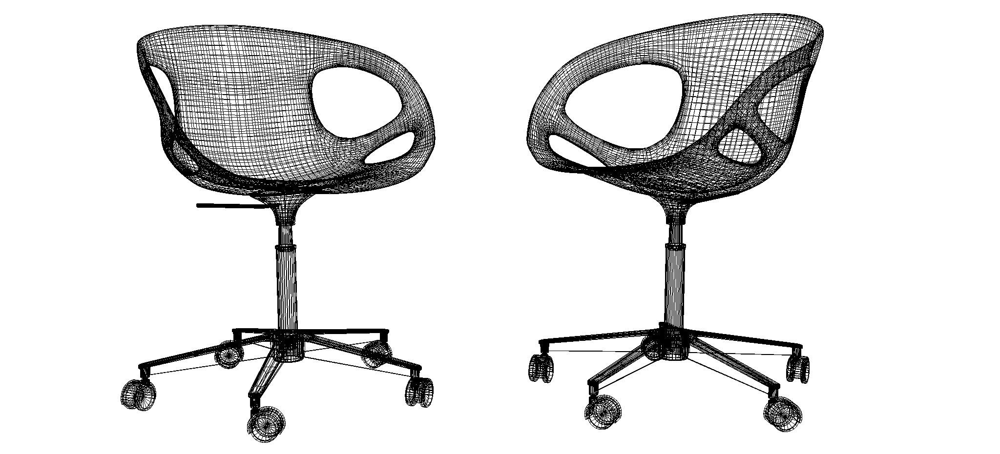 chair design parameters adirondack cake topper rin office 3d model max obj 3ds fbx dxf dwg