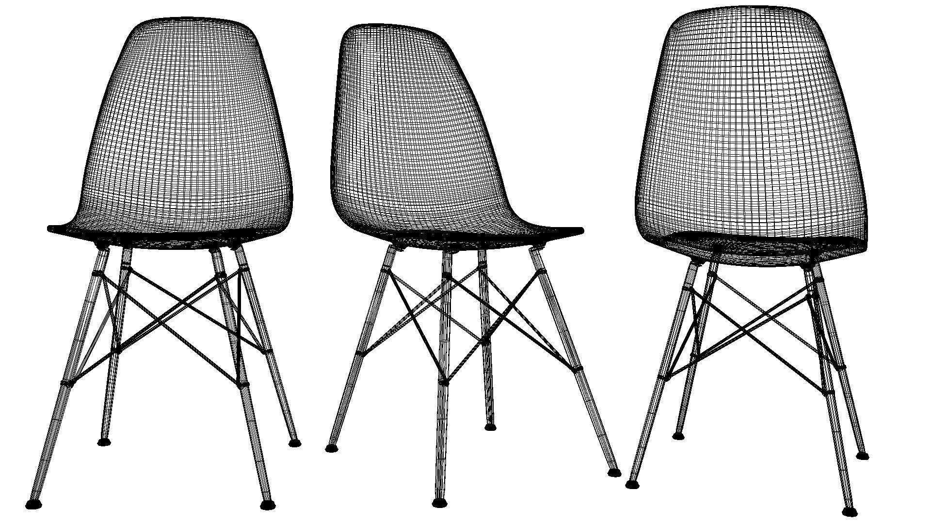 chair design parameters smallest folding eames white 3d model max obj 3ds fbx dxf