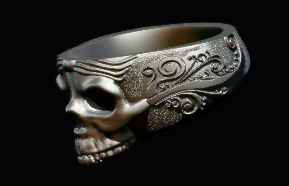 The Skull Ring 3D Model 3D Printable STL