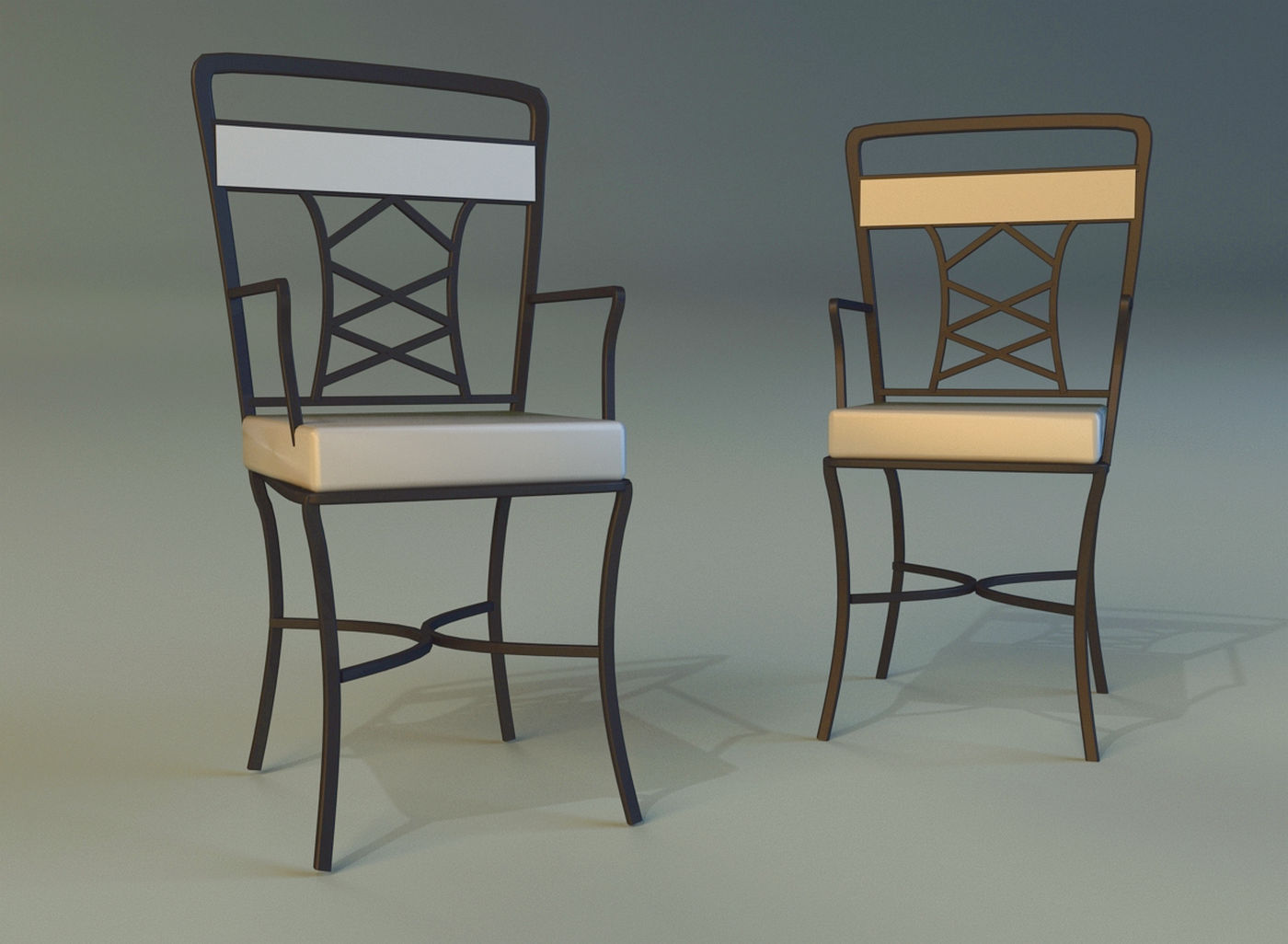 metal kitchen chair unfinished dining chairs 3d model max obj 3ds fbx mtl