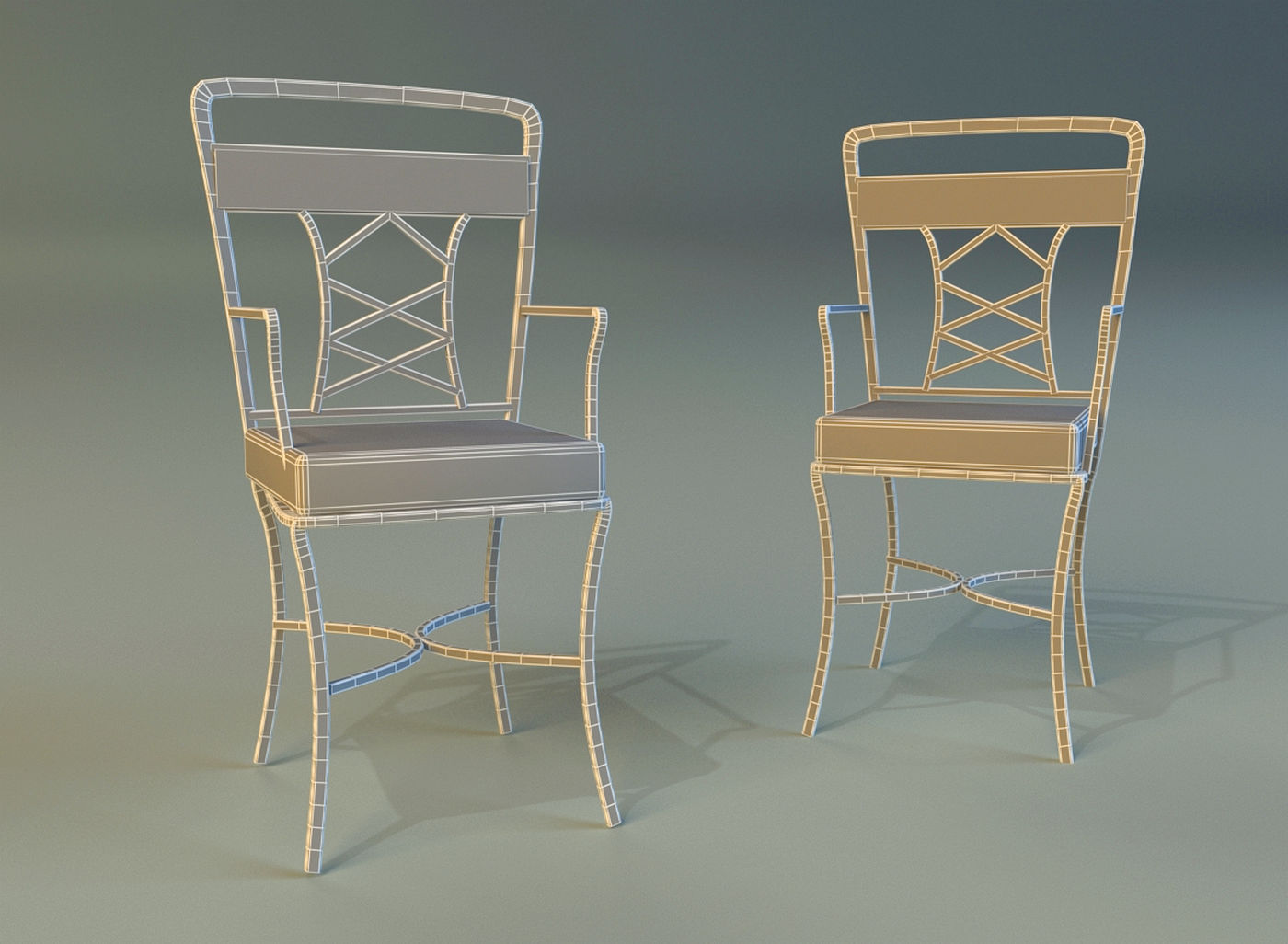 metal kitchen chair plus size beach chairs 3d model max obj 3ds fbx cgtrader