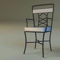 Aluminum Kitchen Chairs Bar Designs Chair Metal 3d Model Max Obj 3ds Fbx