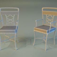 Aluminum Kitchen Chairs Buy Hood Chair Metal 3d Model Max Obj 3ds Fbx