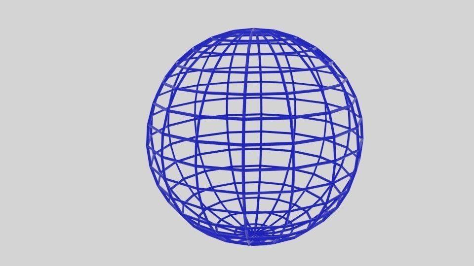wireframe sphere 3d model