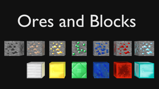 Blender Minecraft 1 5 2 Blocks And Ores Cy Free 3D