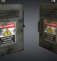 electric fuse box 01 3d model game ready max obj 3ds [ 1920 x 1080 Pixel ]
