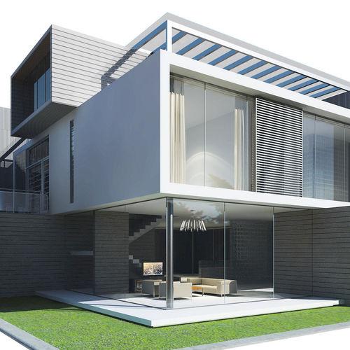 Modern House 3d Model Max Obj 3ds Fbx  Cgtradercom