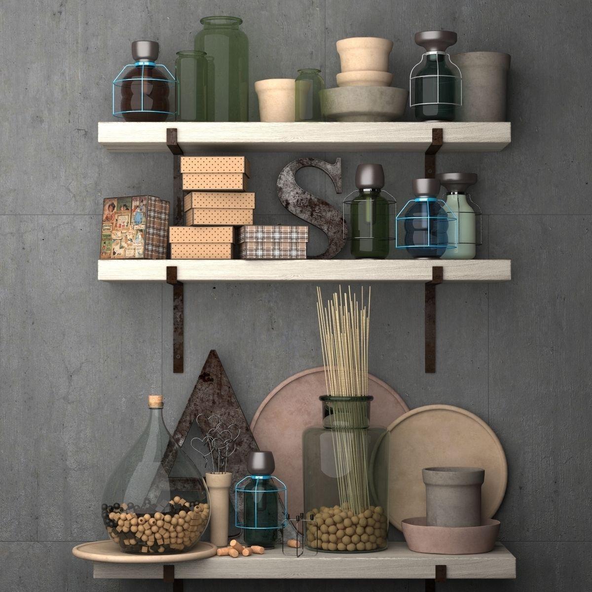 kitchen decor accessories planners decorative set for the vintage kit 3d model