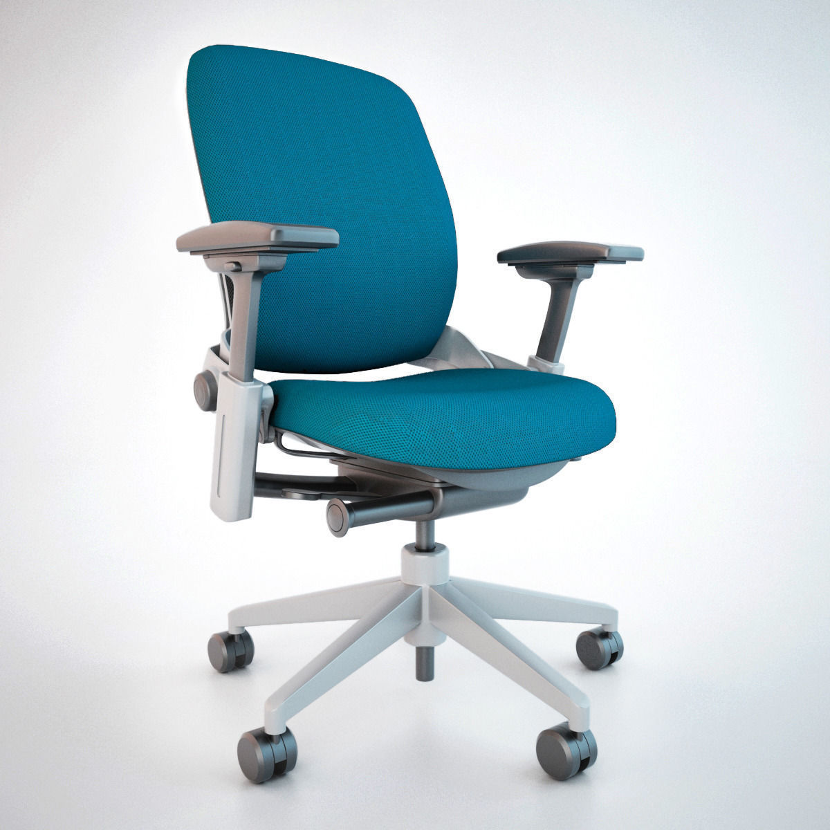 office chair 3d model baby high target steelcase leap max obj fbx