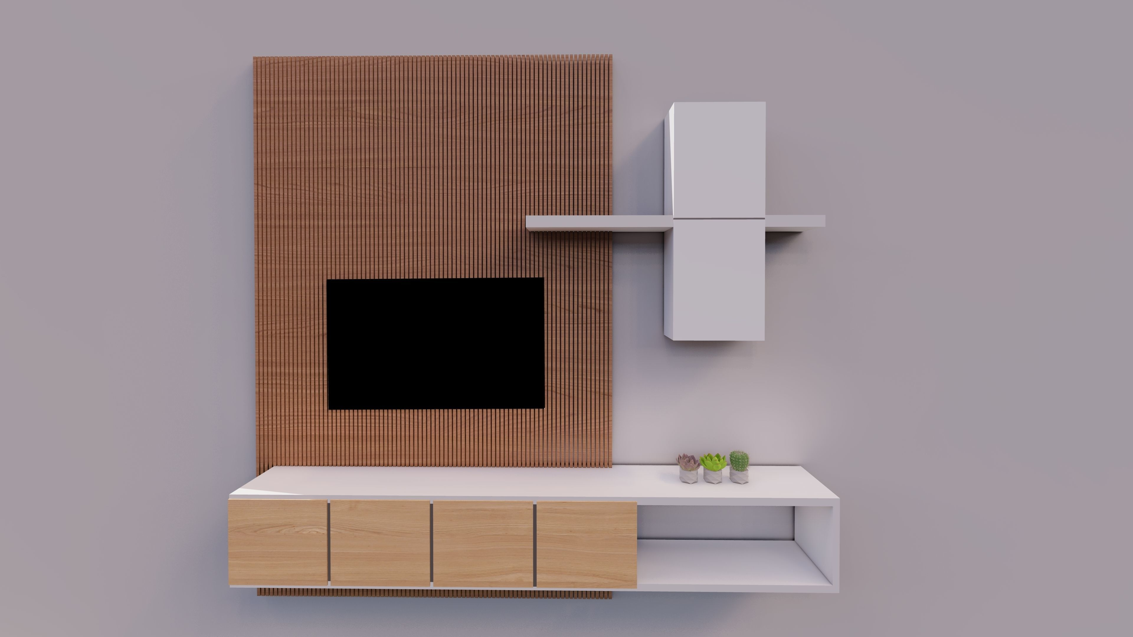 meuble tv design 3d model