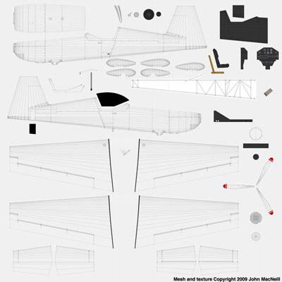 Extra 330SC Racing Plane 3D Model .3ds .lwo .lw .lws