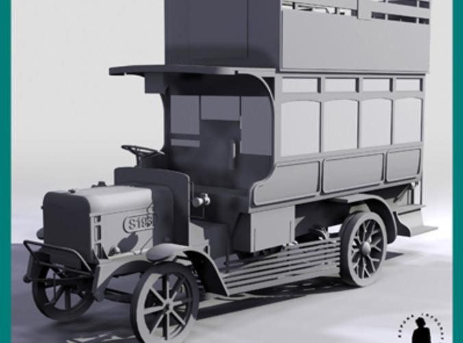 1910 TYPE BUS OMNIBUS 3D Model max  CGTradercom