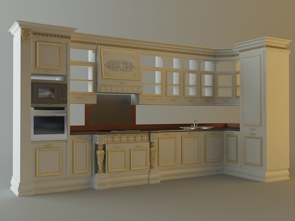 Kitchen Cabinets Appliances 28663 3D CGTrader
