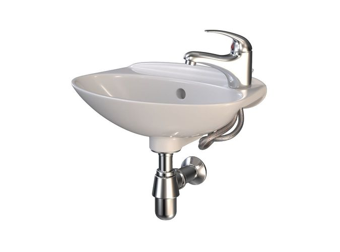 Compact Bathroom Sink with Faucet 3D model  CGTrader