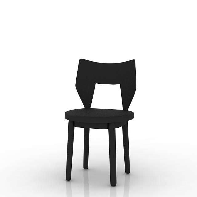 Unique Black Designed Chair 3D Model OBJ