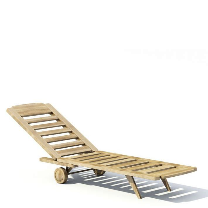 Reclining Beach Chair 3D Model  CGTradercom