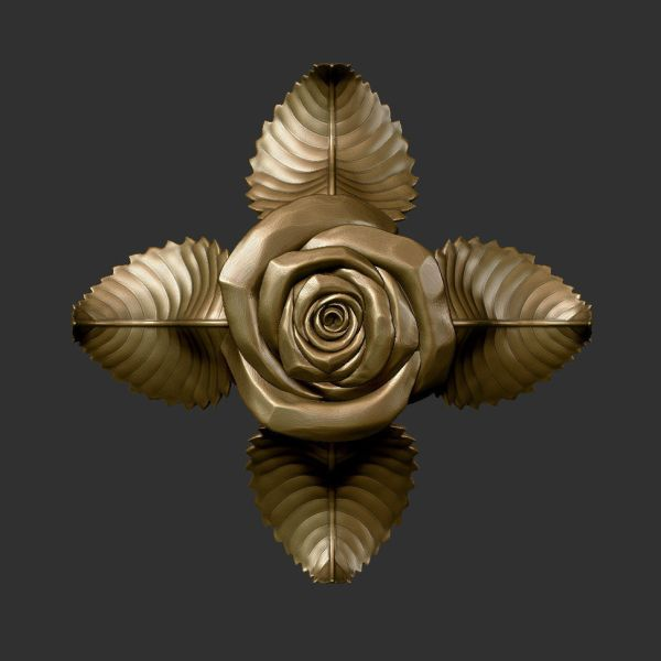 3D Sculpture Rose