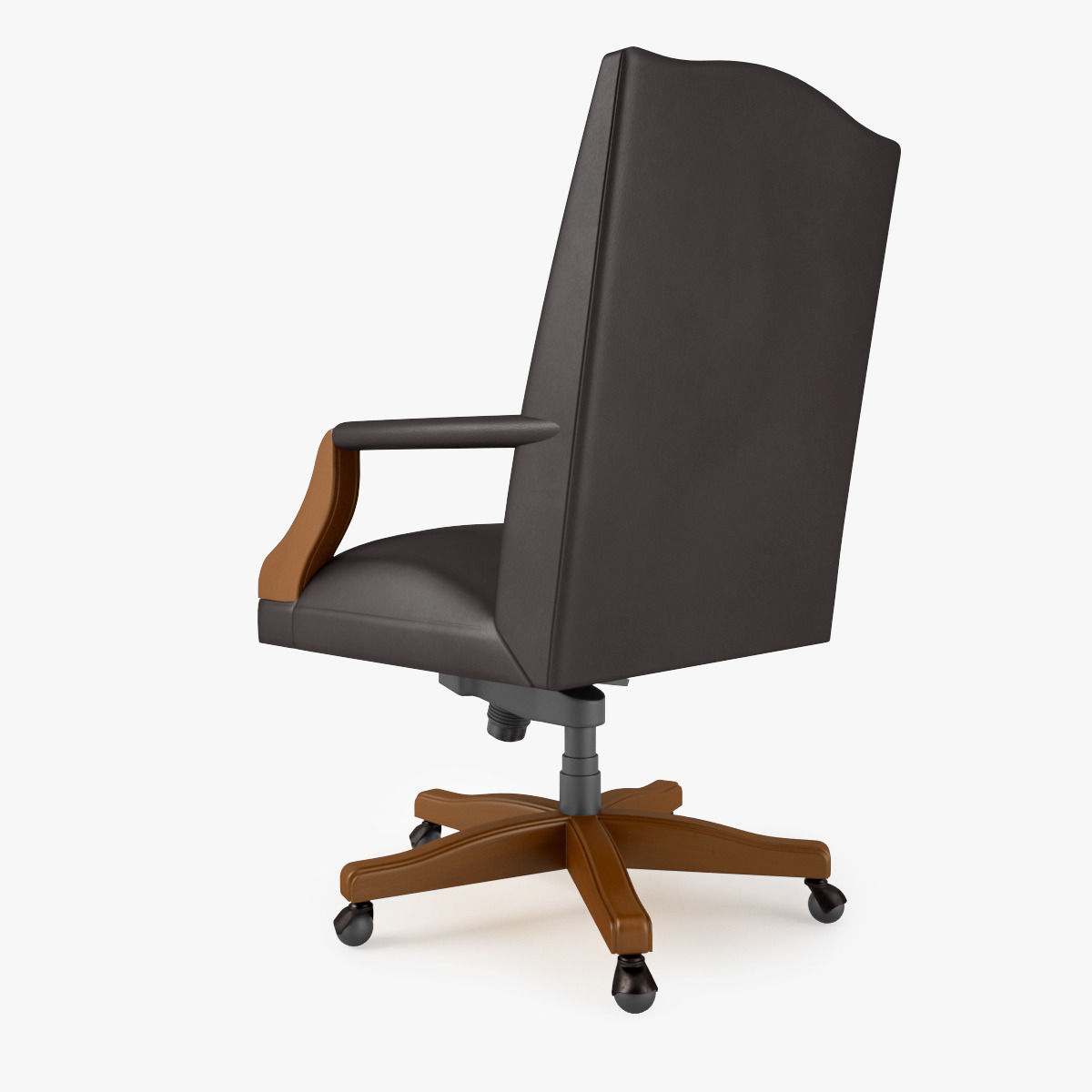 office chair 3d model wooden arm chairs steelcase mansfield max obj fbx mtl