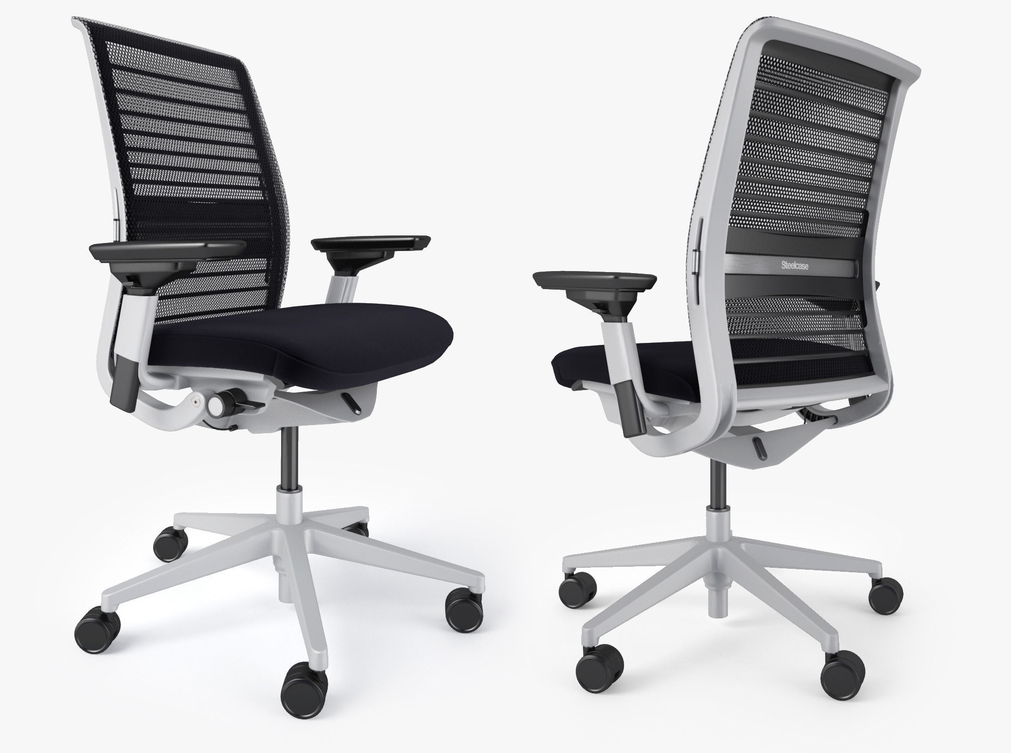 Steelcase Think Office Chair 3D Model MAX OBJ FBX MTL