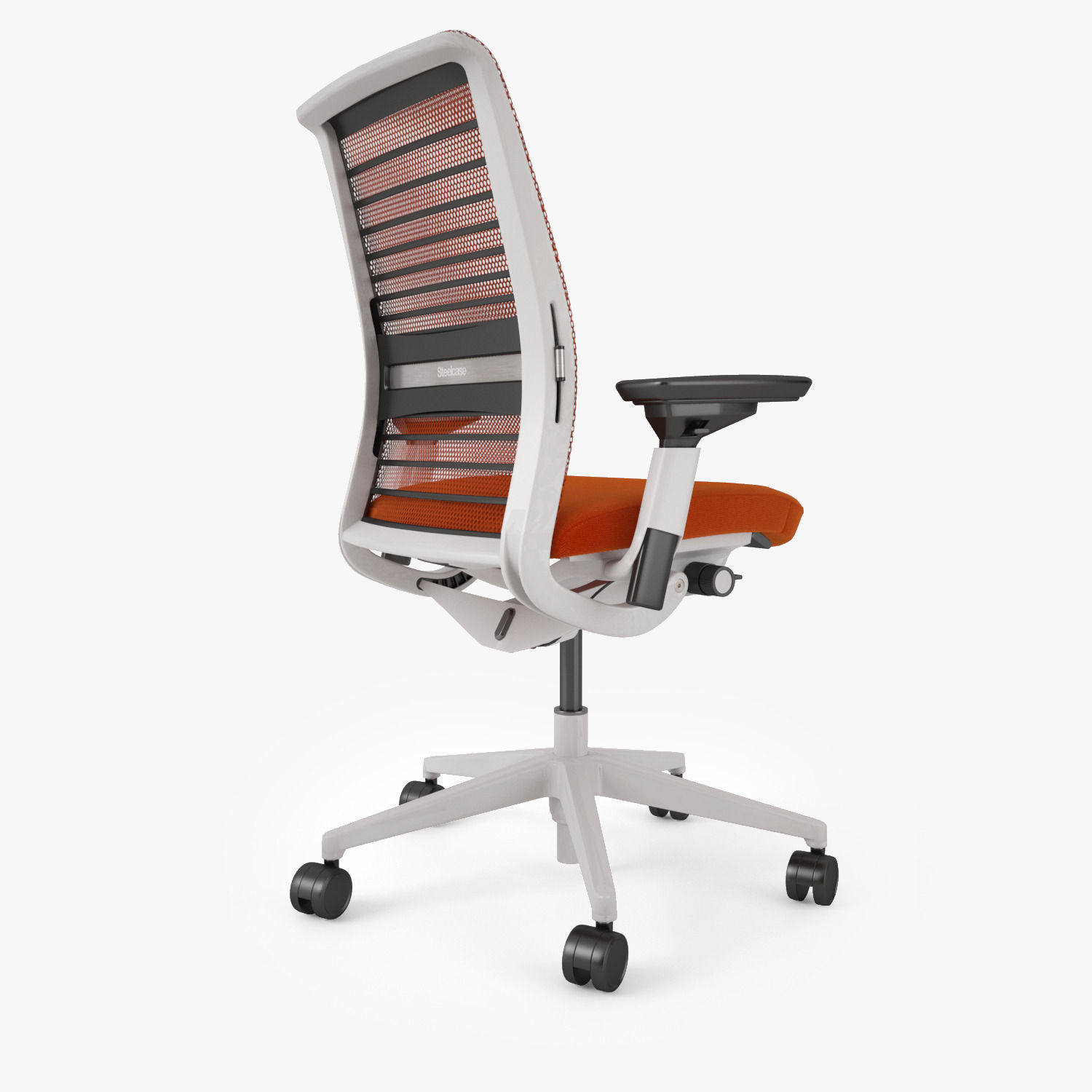 steelcase chair parts round wooden think office 3d model max obj fbx mtl