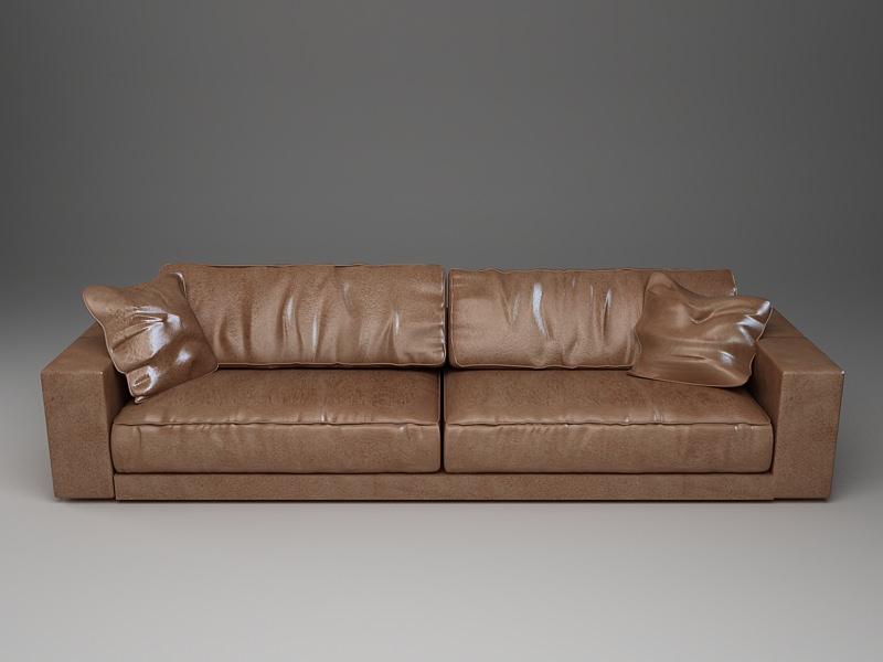 long sofas leather wing sofa bene 3d model photorealistic cgtrader max obj mtl 3ds fbx unitypackage prefab 3