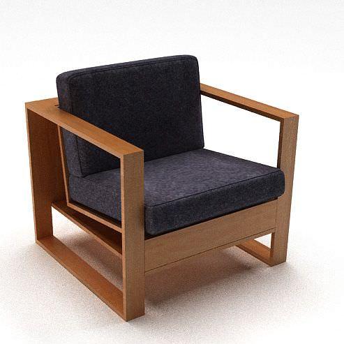 wooden cushion modern chair