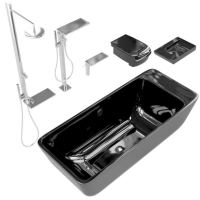 Black And Silver Bathroom Accessories 3D Model - CGTrader.com