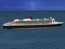 Rms Queen Mary 2 3d Model Rigged Max Obj 3ds Lwo Lw Lws