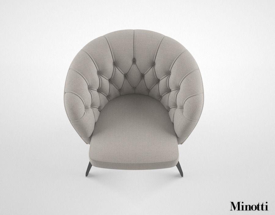 Minotti Winston armchair 3D Model max  CGTradercom