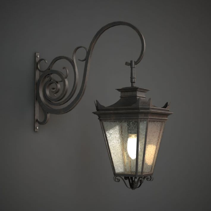 3D Classic Outdoor Wall Lamp CGTrader