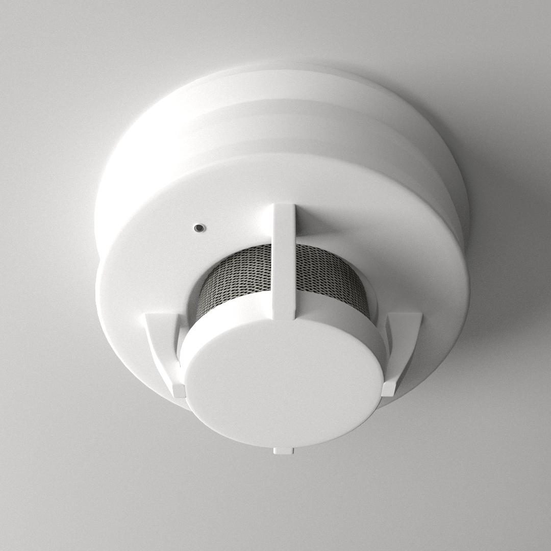 kitchen smoke detector epoxy floor 3d model 3ds fbx blend dae cgtrader