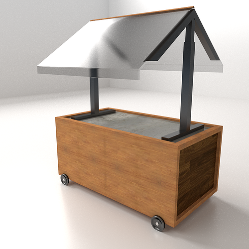 3D model Food Cart 2  CGTrader