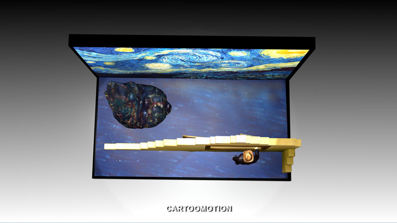 The Starry Night By Vincent Van Gogh 1889 3D Model 3D