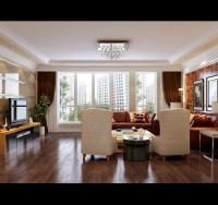 Modern Living Room With Big Windows 3D Model .max