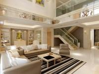 Huge Modern Living And Dining Room Decorat... 3D Model ...