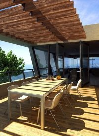 Terrace Balcony With Wood Flooring 3D model MAX