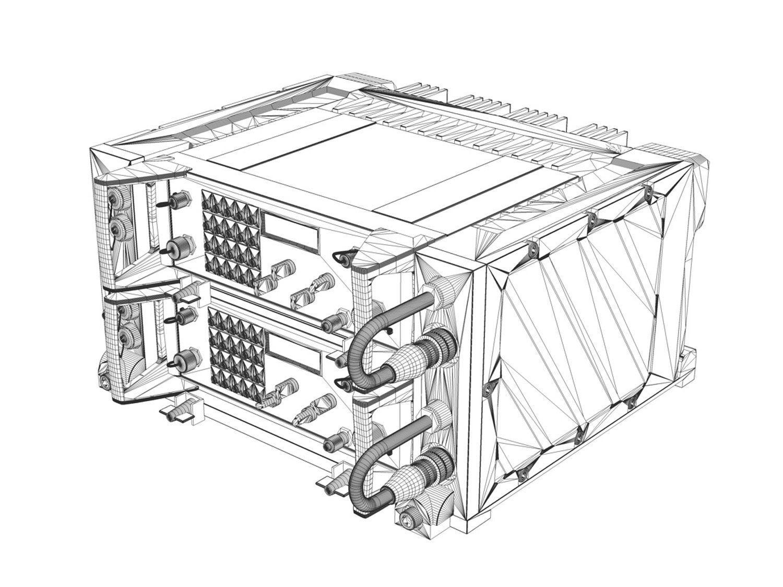 Uhf Vhf Military Radio System 3d Model Obj 3ds Fbx C4d Lwo Lw Lws