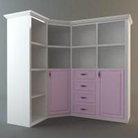 Corner Storage Cabinet 3D Model .max .3ds .fbx - CGTrader.com