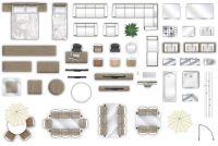 2d furniture floorplan top down view PSD 3D Model