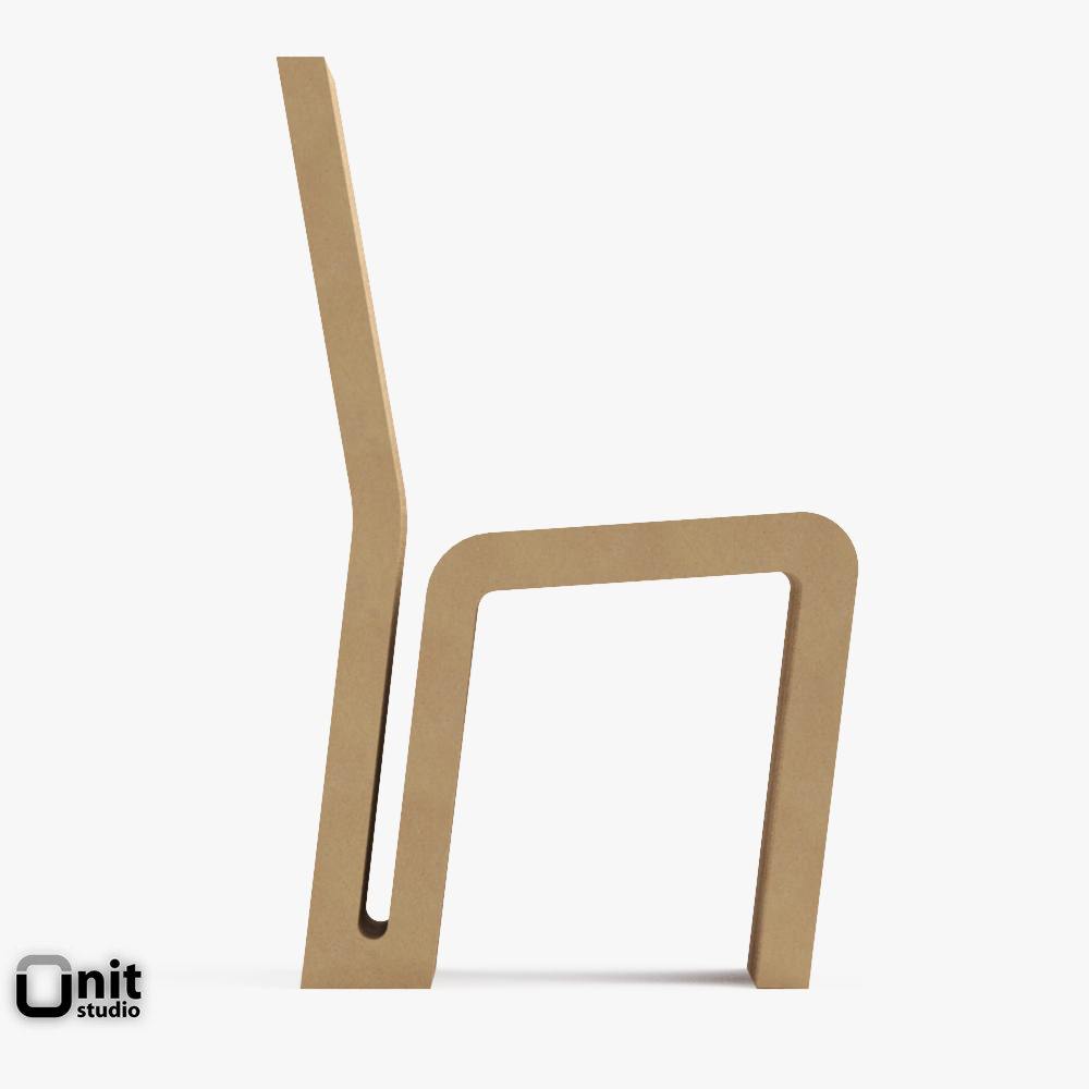 frank gehry chair swivel base replacement vitra easy edge side by o 3d cgtrader model max obj mtl 3ds fbx