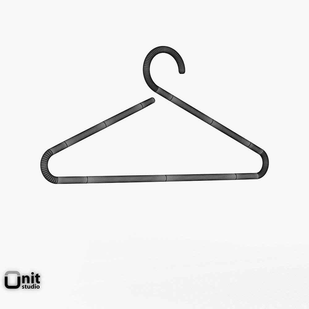 Happy clothes hanger by D-Tec free 3D Model MAX OBJ 3DS