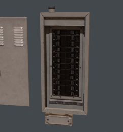 electrical fuse box pbr game ready 3d model cgtraderelectrical fuse box pbr game ready 3d model [ 1920 x 1080 Pixel ]