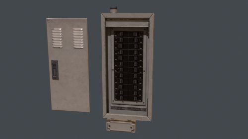 small resolution of electrical fuse box pbr game ready 3d model cgtraderelectrical fuse box pbr game ready 3d model