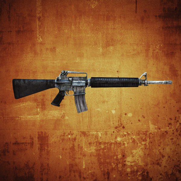 M16 Assault Rifle 3d Model Game Ready .max .obj .fbx .lwo