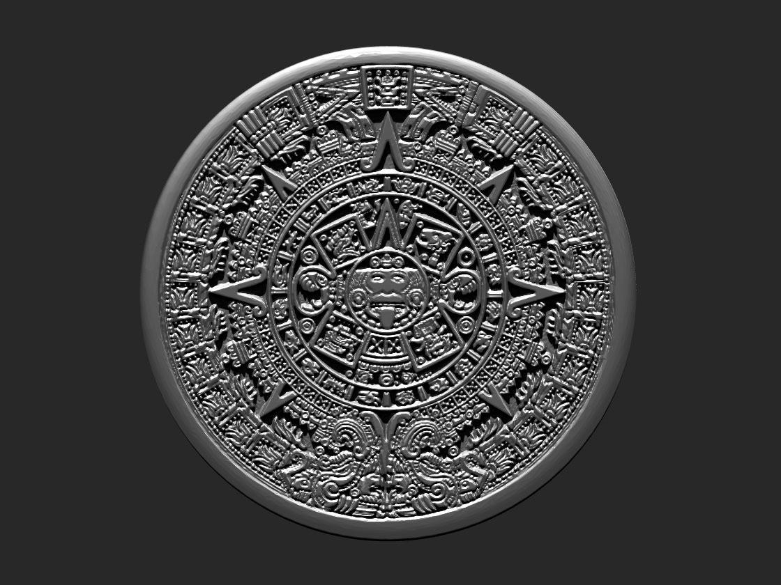 Aztec Calendar 3d Model 3d Printable Obj L Ztl